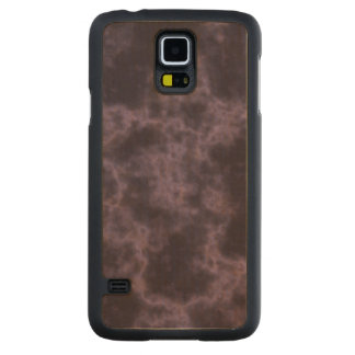 Purple Marble Texture Carved Maple Galaxy S5 Slim Case