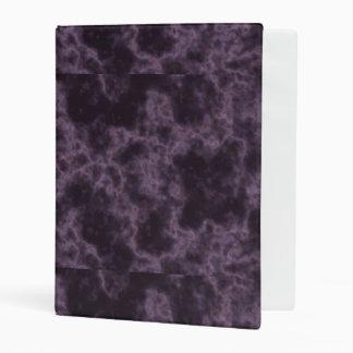 Purple Marble Texture Mini Binder