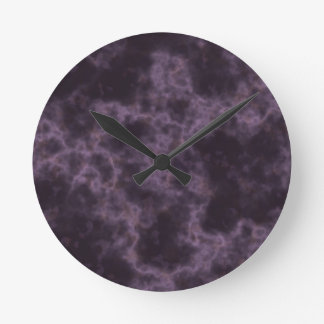 Purple Marble Texture Round Clock
