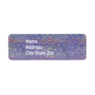 Purple Marbled Label