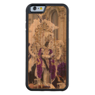 Purple Mardis Gras Zulu King Carved Cherry iPhone 6 Bumper Case