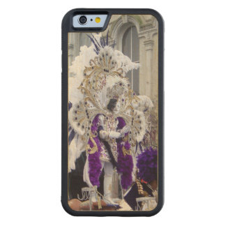 Purple Mardis Gras Zulu King Carved Maple iPhone 6 Bumper Case