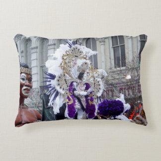 Purple Mardis Gras Zulu King Decorative Pillow