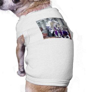 Purple Mardis Gras Zulu King Pet Tee Shirt