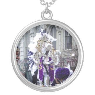 Purple Mardis Gras Zulu King Necklace