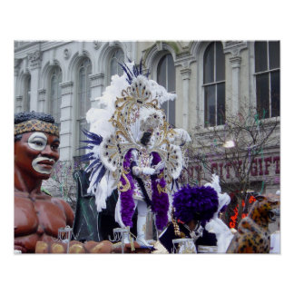 Purple Mardis Gras Zulu King Poster