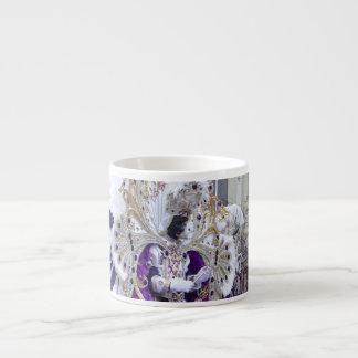 Purple Mardis Gras Zulu King 6 Oz Ceramic Espresso Cup