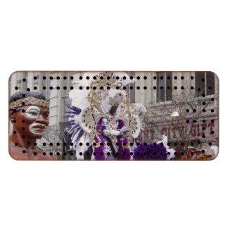 Purple Mardis Gras Zulu King Wood Cribbage Board