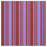 [ Thumbnail: Purple & Maroon Colored Stripes/Lines Pattern Fabric ]