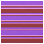 [ Thumbnail: Purple, Maroon & Violet Striped/Lined Pattern Fabric ]