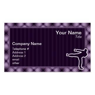 Purple Martial Arts Business Card Template