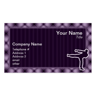Purple Martial Arts Double-Sided Standard Business Cards (Pack Of 100)