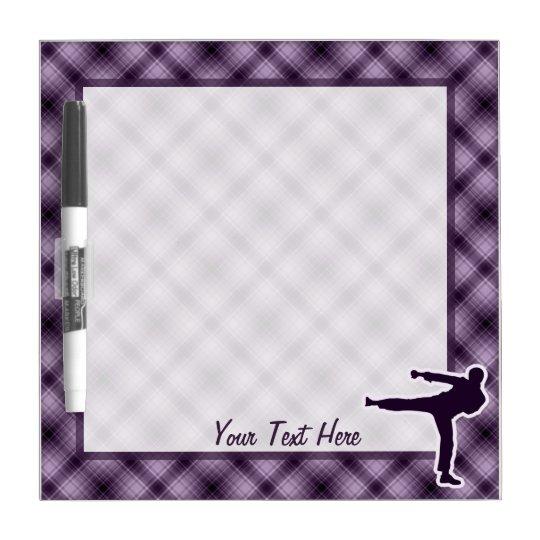 Purple Martial Arts Dry Erase Board