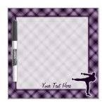 Purple Martial Arts Dry Erase Whiteboards