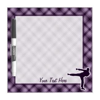 Purple Martial Arts Dry-Erase Board