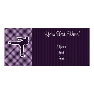 Purple Martial Arts Rack Card
