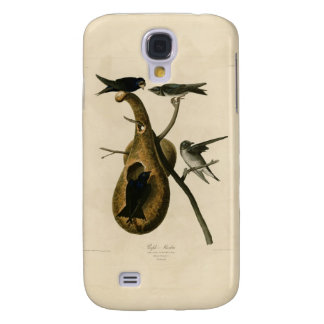 Purple Martin Bird Illustration Galaxy S4 Case