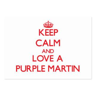 Purple Martin Business Card Template