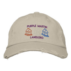 Purple Martin Landlord Embroidered Baseball Hat