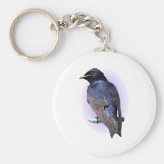 Purple Martin Male Keychain