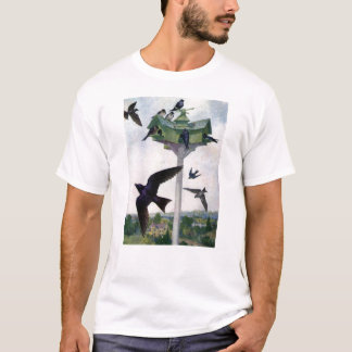 Purple Martins and Their Birdhouse T-Shirt