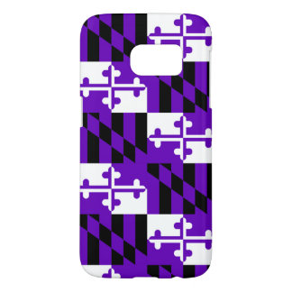 Purple Maryland Flag Cell Phone Case