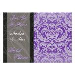 Purple Mask Halloween Bridal Shower Invitation