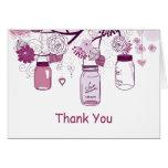 Purple Mason Jars and Love Birds Postage Greeting Card