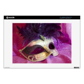 "Purple Masquerade Mask 13"" Laptop Decal"