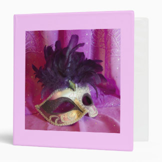 Purple Masquerade Mask Binder