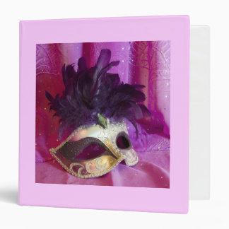 Purple Masquerade Mask Binder