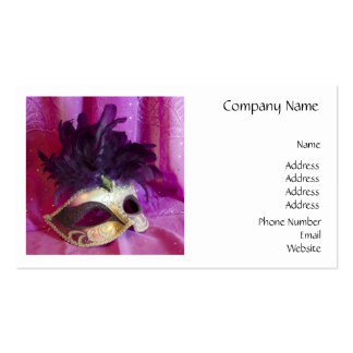 Purple Masquerade Mask Business Card Templates