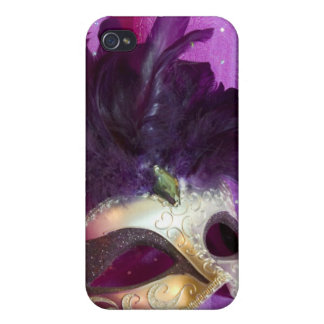 Purple Masquerade Mask Cover For iPhone 4