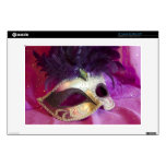 Purple Masquerade Mask Decal For Laptop