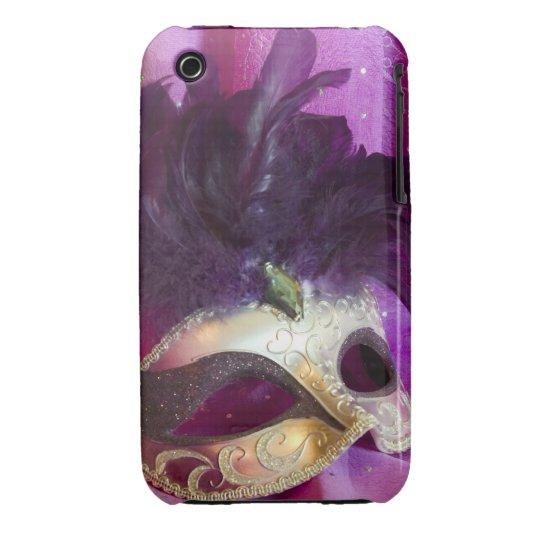 Purple Masquerade Mask iPhone 3 Cover