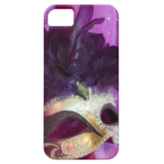 Purple Masquerade Mask iPhone 5 Case