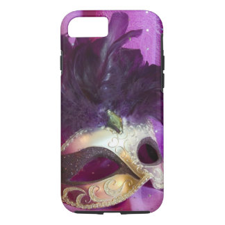 Purple Masquerade Mask iPhone 7 Case
