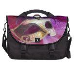 Purple Masquerade Mask Laptop Messenger Bag