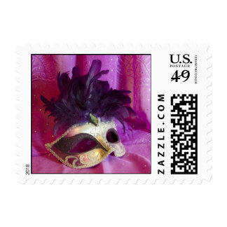 Purple Masquerade Mask Postage