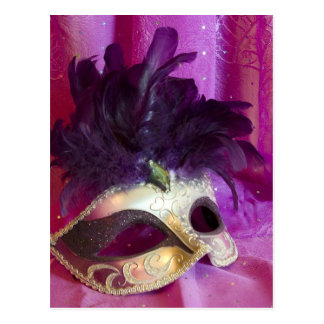 Purple Masquerade Mask Postcard