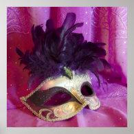 Purple Masquerade Mask Posters