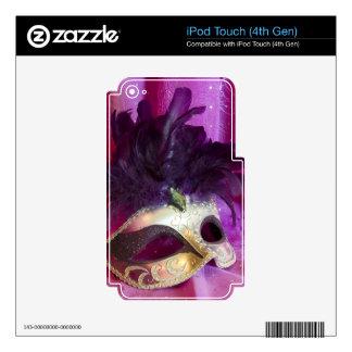 Purple Masquerade Mask iPod Touch 4G Skin