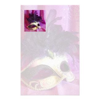 Purple Masquerade Mask Stationery