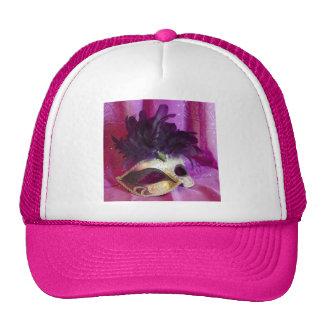 Purple Masquerade Mask Trucker Hat