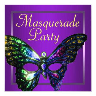 Purple Masquerade Party Invitation