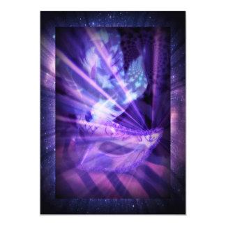Purple Masquerade Party 5x7 Paper Invitation Card