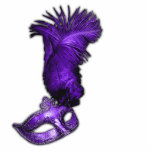 "Purple Masquerade Party Table Decorations Cutout<br><div class=""desc"">Pretty purple feather mask purple masquerade party table decoration acrylic sculpture cut-out.</div>"