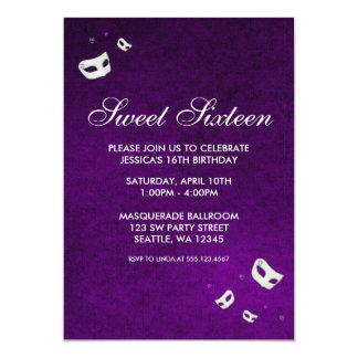 Purple Masquerade Sweet Sixteen Birthday Card