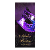 Purple Masquerade  Wedding Program Invitation
