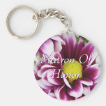 Purple Matron Of Honor Bouquet Keychain